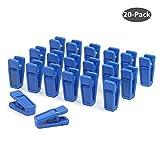 Aeeque® 20 Stück Robust Slim Blau Klammer Kunststoff Plastik Wäscheklammern Clips für Bekleidung / Hose / Kleid / Socken / Unterwäsche , Set of 20