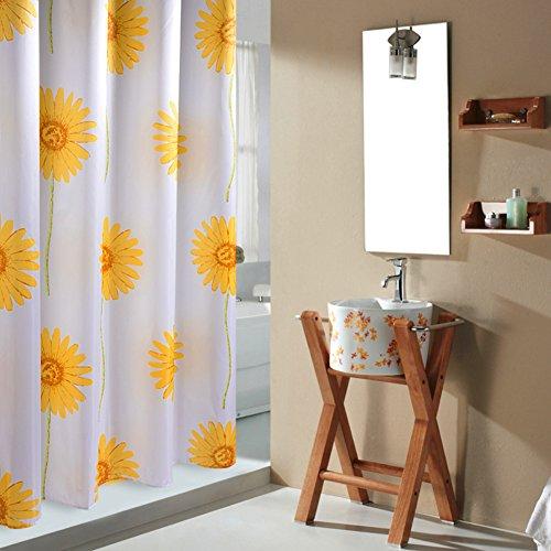 Sonnenblume duschvorhänge, Duschvorhänge stoff Dick Polyester Wasserdicht Anti schimmel Pastorale muster Badezimmer dusche vorhang Bath vorhang-gelb C 170x200cm(67x79inch) -