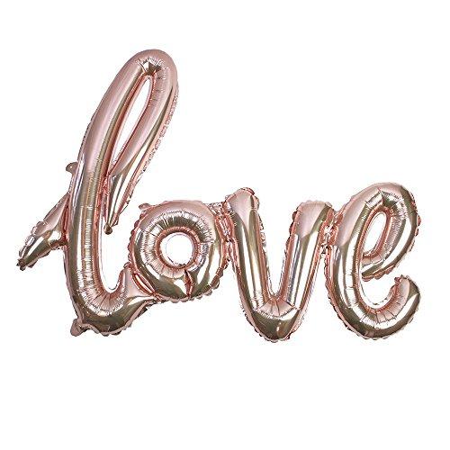 Talking Tables Truly Romantic; 'Love'-Schriftzug-Luftballon für Hochzeiten, Jubiläumsfeiern und Valentinstag, Rosé-Golden