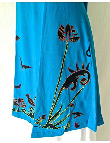 ROBE ETHNIQUE JERSEY SD-89 turquoise Turquoise