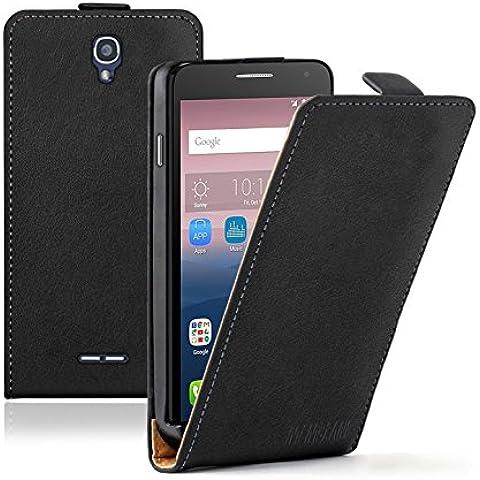Membrane Alcatel One Touch Pop Star 5022D Custodia Ultra Slim Nero PU Pelle Flip Protettivo Case Cover