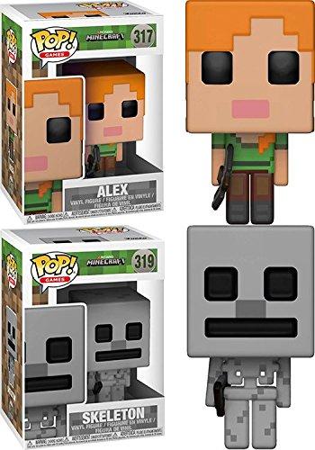 Funko POP! Minecraft: Alex + Skeleton - Stylized Video Game Vinyl Figure Set NEW