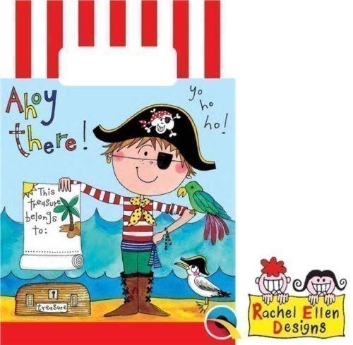 Rachel Ellen Piraten Partytüten aus Papier (8er Pack)