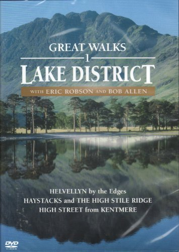Great Walks 1, Lake District - Spectacular Lakeland scenery - Helvellyn, Striding Edge, Haystacks, Buttermere and the far eastern fells from Kentmere to High Street. Presented by Eric Robson, Alfred Wainwright's walking companion, and Bob Allen.