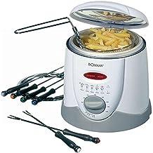 Eléctrico freidora Fondue para 6personas fritura freído. Oel Capacidad Aprox. 1L (900W de alto rendimiento + Incluye Tenedores de fondue)