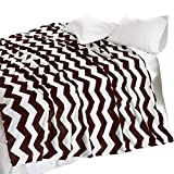 Nadia Print Throw Blankets - Chevron Pattern...