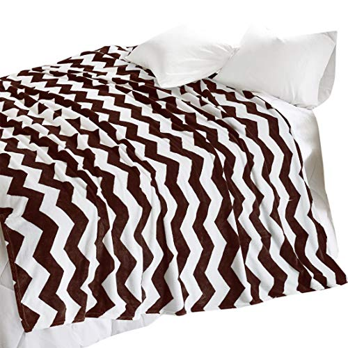 Nadia Print Throw Blankets - Chevron Pattern Design - Super Soft and keep  Warm for Air-conditioned Rooms - Wrinkle Resistant and Anti-fade