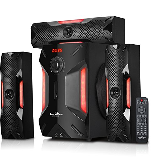 Jack Martin X7 Bluetooth/SD Card/Pendrive 3.1 Home Theatre Speaker System with Built in FM Radio & Karaoke Feature with 2 Mic Input