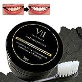 Zahnaufhellung Kokos Aktivkohle Pulver 30 g ● natürliches Zahn Bleaching für Weiße Zähne ● Zahnverfärbungen entfernen & Zähne aufhellen