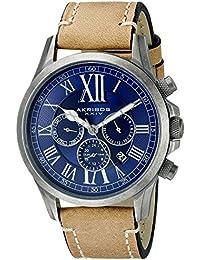 Akribos XXIV Reloj Dial de multifunción para hombre con correa de piel