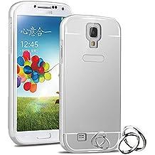 Semoss Premium Espejo Funda Aluminio Carcasa Case para Samsung Galaxy S4 i9500 i9505 Ultra Thin Mirror Efecto Metal Bumper Hardcase Shell Cover - Silver