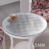 GYZ tablecloth Desk Cloth PVC-Tischdecke Waterproof Soft Glass Tischset Tischdecke Crystal Plate (Größe : 90*90cm)