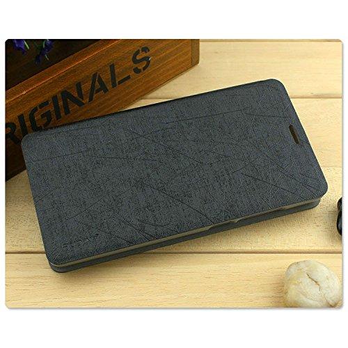 GoRogue Pudini Rain PU Leather Slim Flip Cover Case with Convertible Back Stand for Microsoft Lumia 550 (Black)