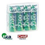 tka Köbele Akkutechnik Akku AA: 4er-Set NiMH-Akkus Typ AA/Mignon, 2.700 mAh, mit Aufbewahrungs-Box (Mignon Akku)