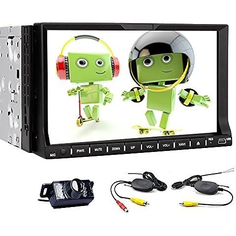1024 * 600 Resoluci¨®n en el tablero de coches reproductor de DVD Doble 2 Din Android 4.4.4 Car Stereo Radio Head Audio Unidad GPS Alta Definici¨®n capacitiva Multi Touch