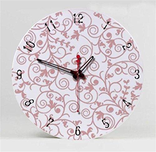 Unbekannt TIAMO Home Store 12 Zoll Kreative Wohnzimmer Mute Uhr Personalisierte Keramik-Kunst Mode Einfache Uhr, Wanduhr, Retro-Stil Wanduhr