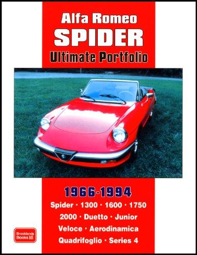 Alfa Romeo Spider Ultimate Portfolio 1966-1994 (Brooklands Books Road Test Series): Spider. 1300. 1600. 1750. 2000. Duetto. Junior. Veloce. Aerodinamica Quadrifoglio. Series 4 por R. M. Clarke