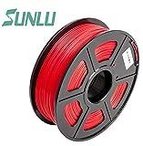 sunlu PLA-Filament–1,75mm–1Kg Spule, Precision Dimensional +/-0,02mm, Made in USA mit Materialien von hoher, rot, 1