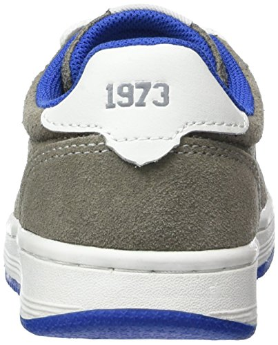 Dockers by Gerli 38ce604-208 Unisex-Kinder Low-Top Gold (hellgrau/weiss 215)