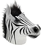 San Diego Comic Con Latex Animal Costume Mask Adult: Zebra One Size