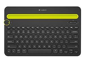 Logitech K480 Tastiera Multi-Device, Bluetooth, Versione italiana (QWERTY), Tastiera Wireless da Scrivania per Computer, Tablet e Smartphone, Nero