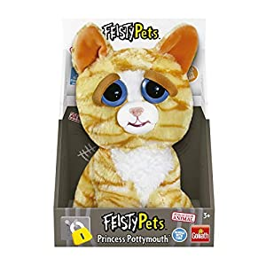 Goliath Feisty Pets-Peluche Gato Naranja, color blanco (32297.006)