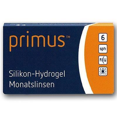 Primus Silikon-Hydrogel Monatskontaktlinse 6 Stück BS 8.8 mm DIA 14.10 Stärke -4.00 Dioptrien