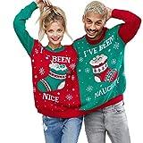 Sillor Weihnachten Siamesisch Pullover Unisex Neuheit Weihnachtspaare Brief Socken Gedruckt Lange Ärmel Bluse Komisch Sweatshirt Tops