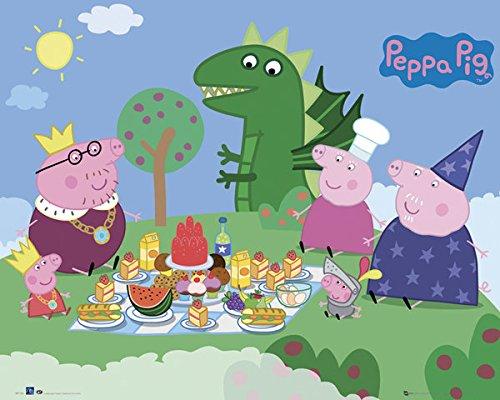 Nosoloposters Mini Poster Peppa Pig Princess Picnic
