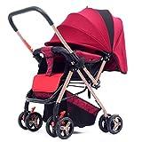 L@LILI Puppenstöder, Faltbarer und portabler Stroller mit Swiveling Wheels, Multi-Positions-Liegen-Sitze, Großer Lagerkorb,f