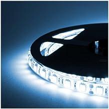 ALED LIGHT® Stiscia LED 5m SMD 5050 BIANCO FREDDO Luce Di Striscia Flessibile Impermeabile Del LED Con Manuale D'istruzioni