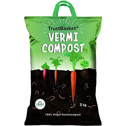 TrustBasket Organic Vermicompost Fertilizer Manure for Plants - 5 KG