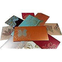 Parth Impex Premium shagun regalo sobre (10unidades), varios diseños de color dinero soporte de Fancy paquete para Diwali de Navidad Pascua cumpleaños boda aniversario funda invitación sobres