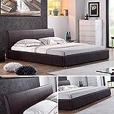 i-flair - Designer Polsterbett, MONACO Bett 180x200 cm braun - alle Farben & Größen
