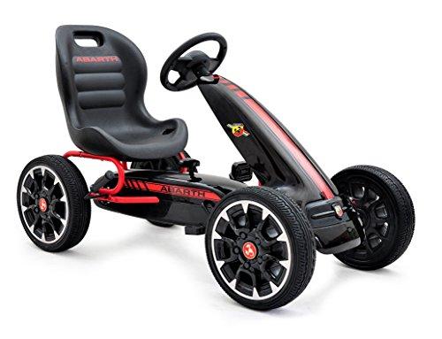 ABARTH Kinder Pedal Go-Kart, Lizenz, Rutscher Auto, Pedal Go Cart, Shaum Reifen Eva Wheels 3-8 Jahre scharz