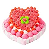 Tarta chuches San Valentin corazones