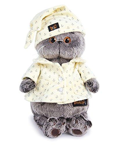 (Plüschtier Katze Basik&Co in Pyjama 19 cm von BudiBasa - Spielzeug für Kinder & Babys weiche Kuscheltiere und süße Stofftiere für Mädchen und Jungen ideal als Geschenk bester Spielfreund)
