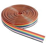 ueetek 5m cavo filo di IDC nastro piatto del colore del arco iris de 10pin
