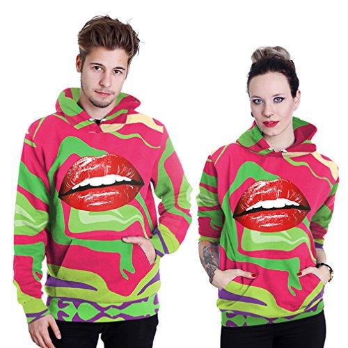 Belsen unisex Kapuzenpullover Sweatshirts Liebhaber Valentine Set Lips
