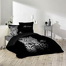 housse de couette noir et blanche. Black Bedroom Furniture Sets. Home Design Ideas
