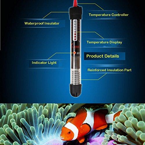 Gazechimp Tauch Aquarium Fisch Behälter Wasser Glas Heizung Heizer Reglerheizer 220-240V - 50w