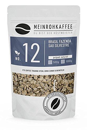 Rohkaffee - Brasil Sao Silvestre (grüne Kaffeebohnen) - süßlich, orangig, komplexe balanciertes Aroma - 500g