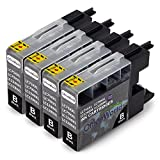 OfficeWorld Kompatible Patronen Ersatz für Brother LC1240 LC1280 Tintenpatronen Kompatibel mit Brother MFC-J280W, MFC-J425W, MFC-J430W, MFC-J435W, MFC-J5910DW, MFC-J625DW, MFC-J6510DW, MFC-J6710DW, MFC-J6910DW, MFC-J825DW, MFC-J835DW, DCP-J525W, DCP-J725DW, DCP-J925DW, Packung mit 4 Stück