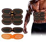 EMS Bauchmuskel Stimulator Trainer, Elektrogürtel Massagegerät, Muskel Elektrostimulator Bauchgürtel für Mann, Frau