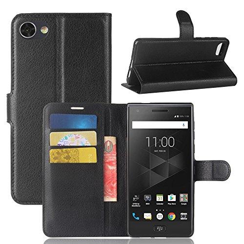 Easbuy Pu Leder Kunstleder Flip Cover Tasche Handyhülle Case Mit Karte Slot Design Hülle Etui für BlackBerry Motion Smartphone Handytasche