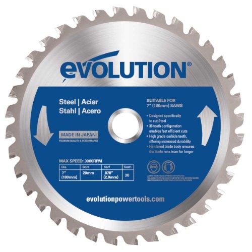 Evolution Evoblade - Lama TCT circolare da acciaio, 180 mm - Sega Circolare Marchi