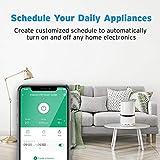 Etekcity WLAN Smart WiFi Plug Steckdose fernbedienbar für Amazon Alexa, Google Home und IFTTT, Kein Hub erforderlich, mit App Steuerung und Verbrauchsanzeige Timer - 4