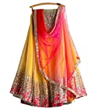 Surat4Fashion Women's Silk Yellow Lehenga Cholis (HR1032_Yellow_Free Size)