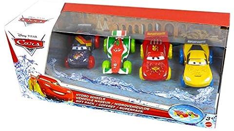 Coffret 4 véhicules nageurs Cars