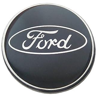 Aftermarket Replika-Aufkleber für Legierungs-Radnaben, mit Ford-Logo, 60mm, Epoxidharz, schwarz, 4-teiliges Set